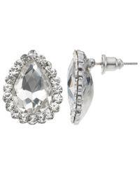 John Lewis - Metallic Cubic Zirconia Pear Stud Earrings - Lyst