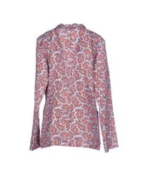 Michael Kors - Blue Paisley-print Two-button Jacket - Lyst
