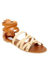 Steve Madden | Natural Worldly Faux Leather Sandals | Lyst