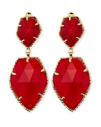 Kendra Scott - Selma Faceted Clipon Earrings Red - Lyst