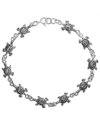 Aeravida | Gray Sea Journey Turtle Link .925 Sterling Silver Bracelet | Lyst