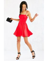 Silence + Noise | Red Noir Strappy-back Mini Dress | Lyst