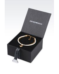 Emporio Armani   White Bracelet And Earrings In Gold-plated Silver   Lyst