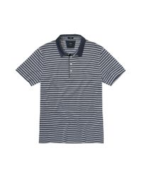 BOSS - Blue 'T-Pryde' | Slim Fit, Silk Blend Striped Polo for Men - Lyst
