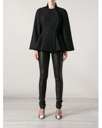 Alexander McQueen - Black Fitted Cape - Lyst