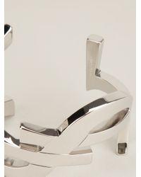 Saint Laurent | Metallic 'monogram' Cuff | Lyst