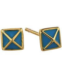 Gorjana - Blue Lula Pyramid Stud Earrings - Lyst