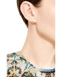 Sehti Na - White Pearl And Chain Earring - Lyst