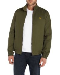 Lyle & Scott | Green Casual Tartan Lined Full Zip Harrington Jacket for Men | Lyst
