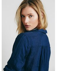 Free People - Blue Cp Shades Womens Cp Shades Indigo Pocket Tunic - Lyst
