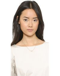 Gorjana - Metallic Asymmetrical Alphabet Necklace - F - Lyst