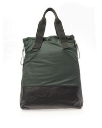 Lanvin - Green Nylon And Calf-Leather Shopper Bag for Men - Lyst