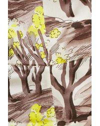 Marni - Yellow Printed Satin Blouse - Lyst
