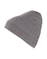 BOSS Orange | Gray Hat 'fomero5' In Chunky Knit for Men | Lyst