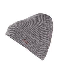BOSS Orange - Gray Hat 'fomero5' In Chunky Knit for Men - Lyst