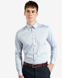Ted Baker - Blue Striped Satin Shirt for Men - Lyst