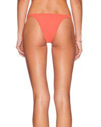 RVCA - Orange Left Coaster Bikini Bottoms - Lyst