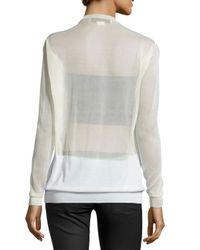 Stella McCartney - Multicolor Long-sleeve Sheer Pullover - Lyst