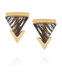 Gemma Redux - Metallic 18-Karat Gold-Plated Rutilated Resin Earrings - Lyst