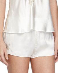 Vivis - Natural Mina Silk Lounge Shorts - Lyst