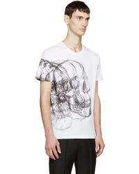 Alexander McQueen | White Best Skulls T-shirt for Men | Lyst