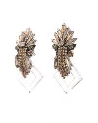 Vickisarge - Metallic Speakeasy Earrings - Lyst