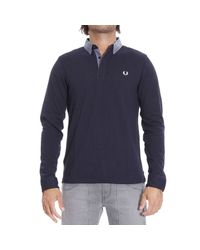 Fred Perry | Blue T-shirt for Men | Lyst