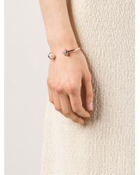 Eddie Borgo | Pink Inlaid Pearl & Cone Hinged Bangle | Lyst
