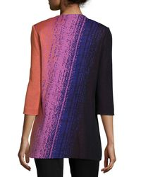 Misook - Multicolor Colorful 3/4-sleeve Long Jacket - Lyst