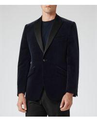 Reiss | Blue Jenson Slim-Fit Velvet Blazer for Men | Lyst