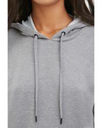 Forever 21 | Gray Hooded Sweatshirt Dress | Lyst