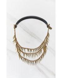 Jenny Bird   Metallic Palm Cili Collar   Lyst