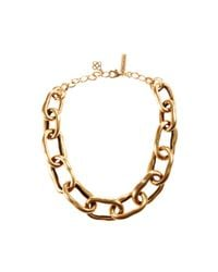 Oscar de la Renta - Metallic Russian Gold Necklace - Lyst