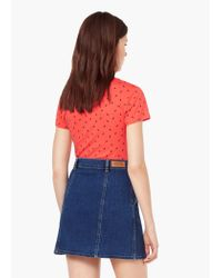 Mango - Red T-shirt - Lyst