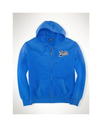 Polo Ralph Lauren - Blue Cotton-blend-fleece Sweatshirt for Men - Lyst