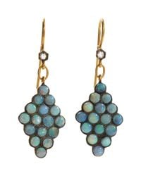 Cathy Waterman | Blue Scalloped Drop Earrings | Lyst