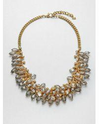 ABS By Allen Schwartz - Metallic Beaded Front Chain Necklace - Lyst