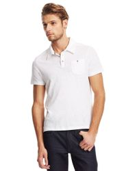 Kenneth Cole - White Pocket Polo Shirt for Men - Lyst