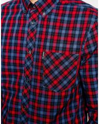 Ben Sherman | Blue Shirt With Tartan Check for Men | Lyst