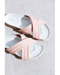 Dune | Natural Jolene Puff Slide Sandal | Lyst