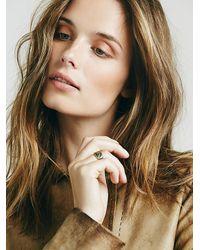 Free People - Metallic Womens Classic Signet Ring - Lyst