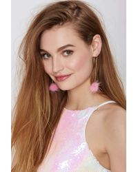 Nasty Gal | Metallic Pom Dot Com Drop Earrings | Lyst