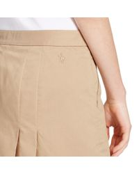 Ralph Lauren Golf | Natural Pleated Cotton-blend Skort | Lyst