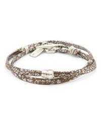 1-100 - Metallic Small Bead Rawhide Bracelet - Lyst