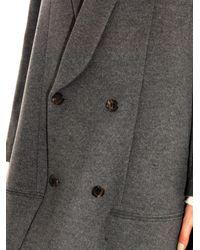 Undercover - Gray Wool-Blend Swing Coat - Lyst