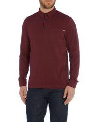 Farah - Red Regular Fit Wallingham Long Sleeve Polo Shirt for Men - Lyst
