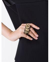 MM6 by Maison Martin Margiela | Metallic Letter Appliqué Double Ring | Lyst
