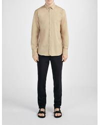 JOSEPH | Brown Poplin John Shirt for Men | Lyst