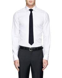 Lanvin - Blue Silk Faille Tie for Men - Lyst
