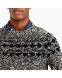 J.Crew | Black Italian Wool Fair Isle Sweater for Men | Lyst